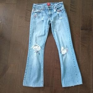 Abercrombie Denim Distressed Blue Jeans Ladies 0
